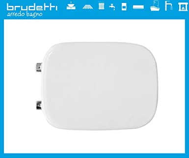 Sedile Wc Compatibile Per Vaso Disegno Ceramica Touch 2