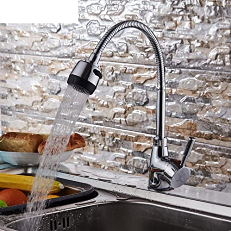 Beau Kitchen Faucet/Brass Sink Faucet Hot And Cold/ Spring Tube Universal Pipe  Sink Faucet