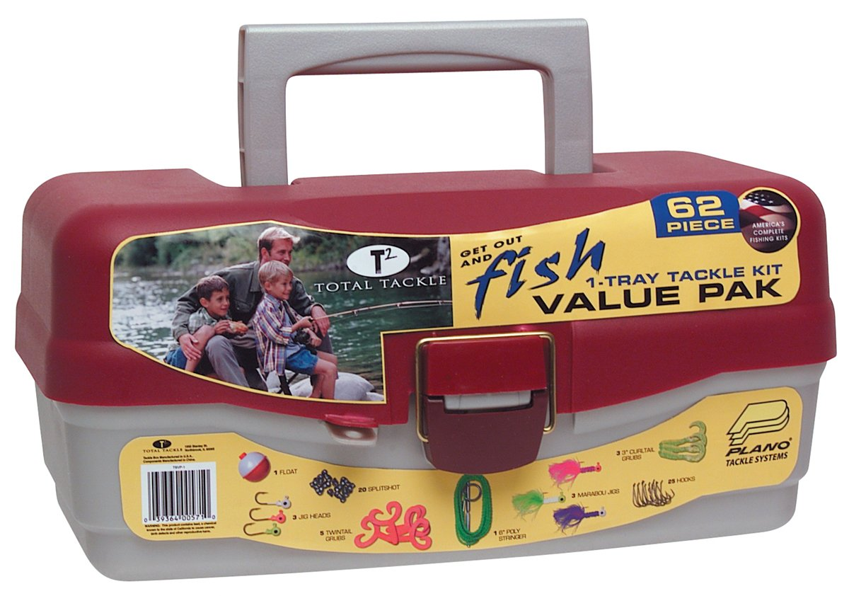 South Bend Tackle Box Including with 62 piece Tackle Kit TBVP-1