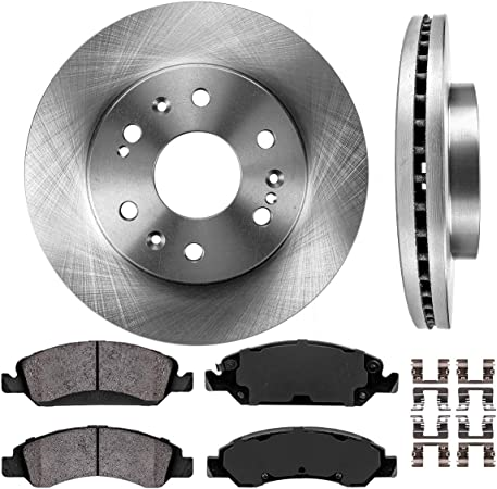 Note: Exc Command 11 Pkg 2009 For Chevrolet Silverado 1500 Front Anti Rust Coated Disc Brake Rotors and Ceramic Brake Pads