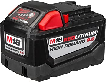 Milwaukee M18 18VDC Lithium-Ion High Demand 9.0 Ah Battery Pack
