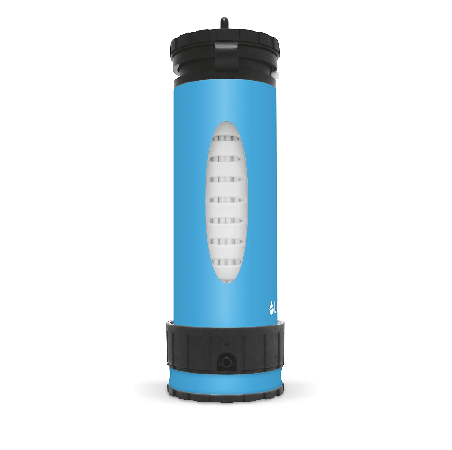 974d9afda8 Amazon.com : LifeSaver Liberty Water Filter Purification Bottle with Inline  Pump & Protective Silicone Sleeve - Eliminates 99.9999% Bacteria, ...