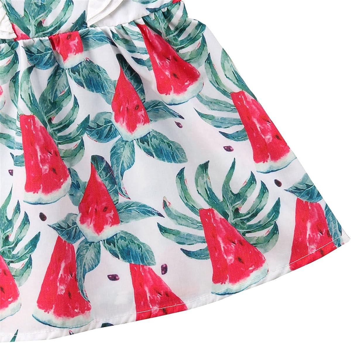 Heartell Baby Girls Sundress Watermelon Princess Dress Sleeveless Lace Cute 1-5T