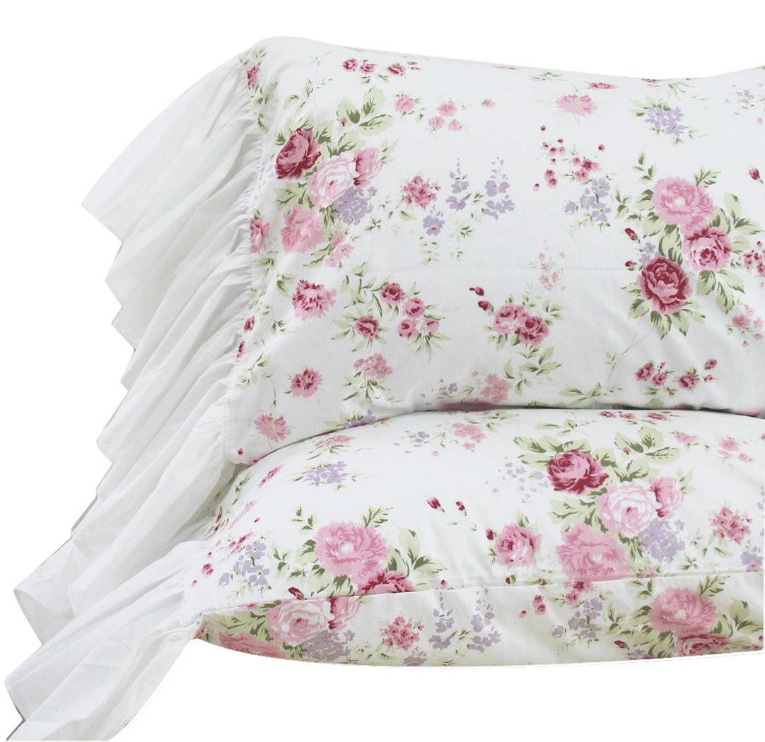 Queen's House Girls Pillowcases Shams Queen/Full/Twin Set of 2-Style L