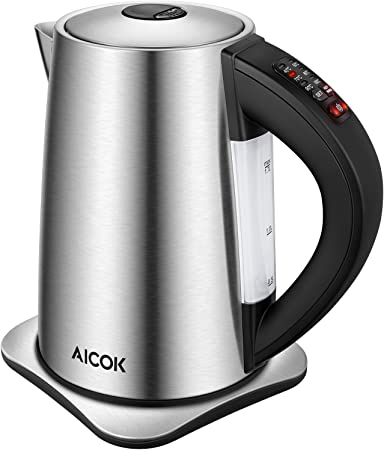 Electric Kettle Temperature Control (PRO), 3000W Rapid Boil Water Kettle, Premium Stainless Steel Kettle, 120mins Stay Warm Function for Tea and