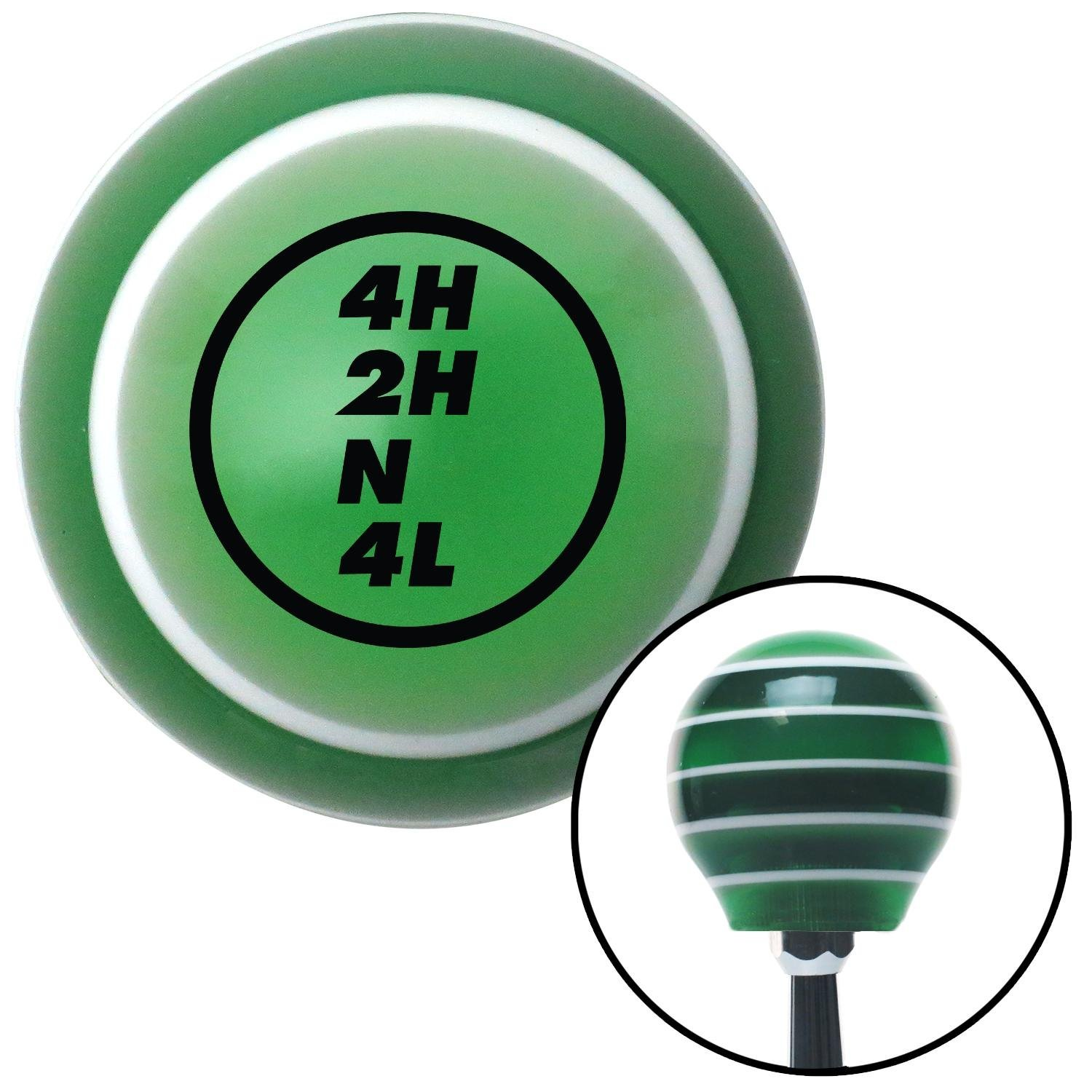 American Shifter 126814 Green Stripe Shift Knob with M16 x 1.5 Insert Black Dana Transfer Case