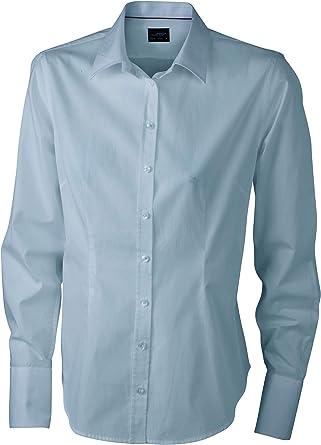 James & Nicholson – Camisa Blusa Manga Larga popelín – fácil Planchado – jn614 – Mujer: Amazon.es: Ropa y accesorios