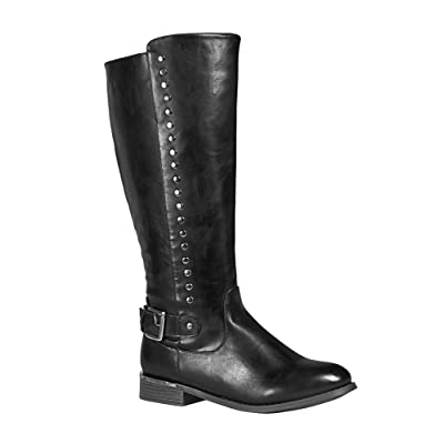-AVENUE Women's Park Tall Studded Riding Boot