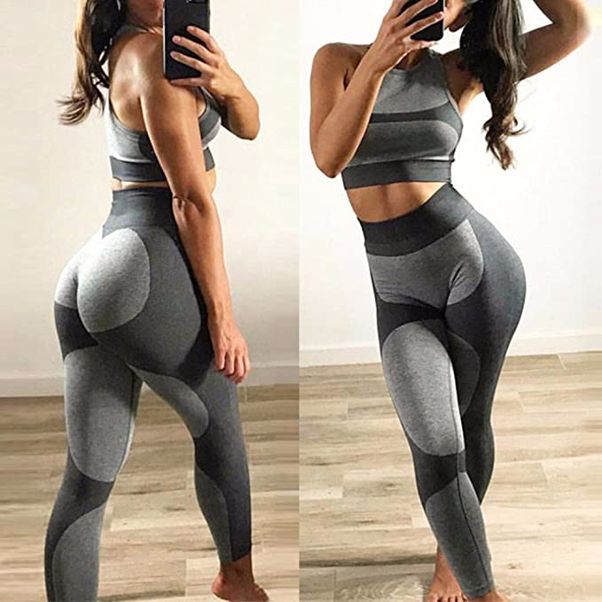 Damen Herzförmig Leggings Bodybuilding Push-Up Hose Sportbekleidung Sport