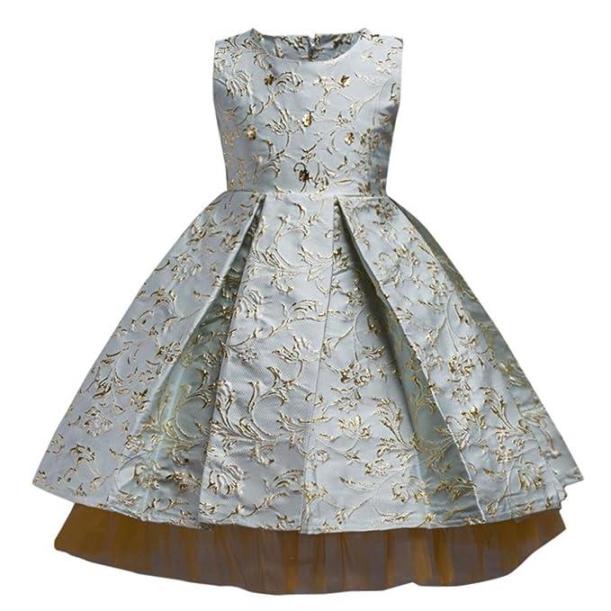 Vestido de niñas, ❤ Manadlian ❤ Niñas Vestidos de Princesa Vestido de novia Fiesta sin Mangas Vestido Para Fiesta Del Boda: Amazon.es: Ropa y ...