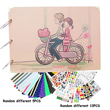 Amazon Diy Photo Album Sweet Love Scrapbook 10 X 7 Inch With