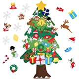 ALEXTREME DIY Felt Christmas Tree Set Xmas Decorations Wall Hanging 35 Ornaments Kids Gifts Party Supplies 3D Wall…