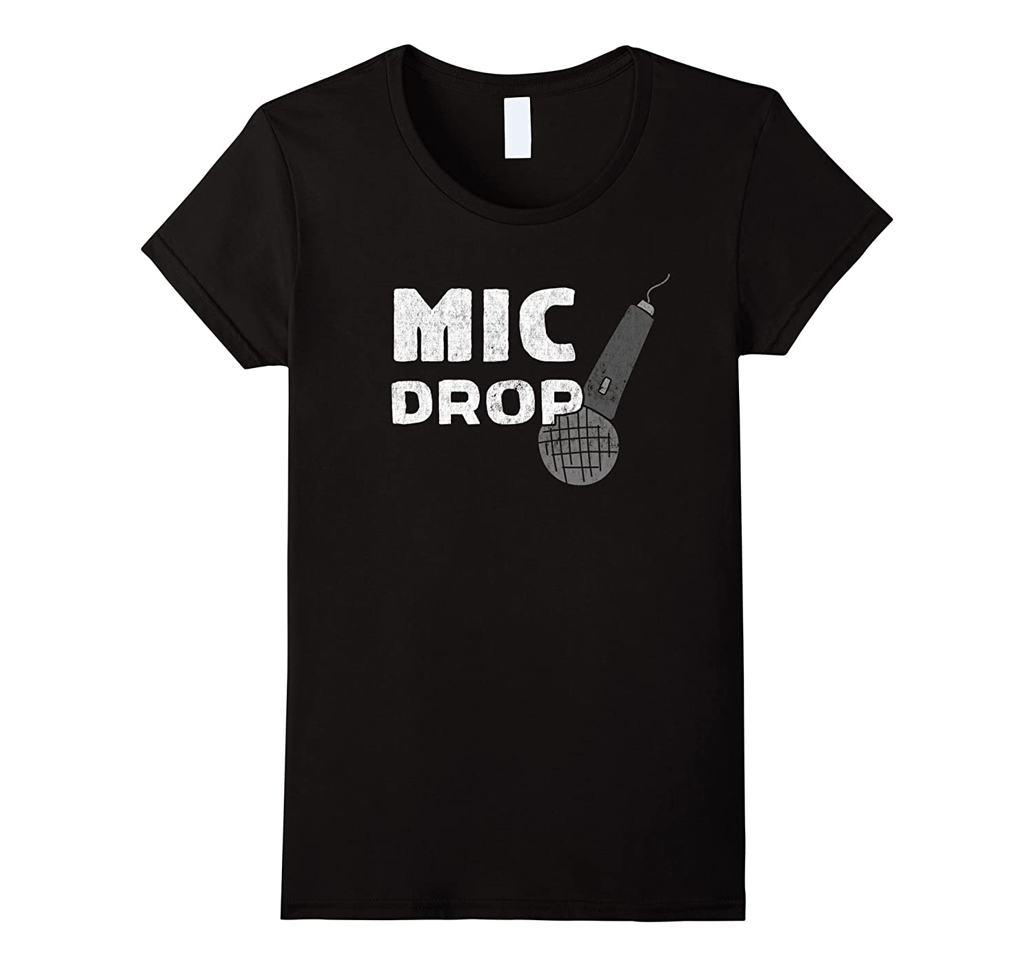 Mic Drop – Funny Trendy Microphone T-Shirt