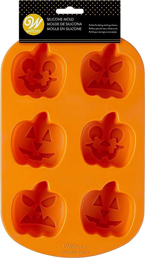Wilton Jack-O-Lantern Non-Stick Silicone Mold, 6-Cavity