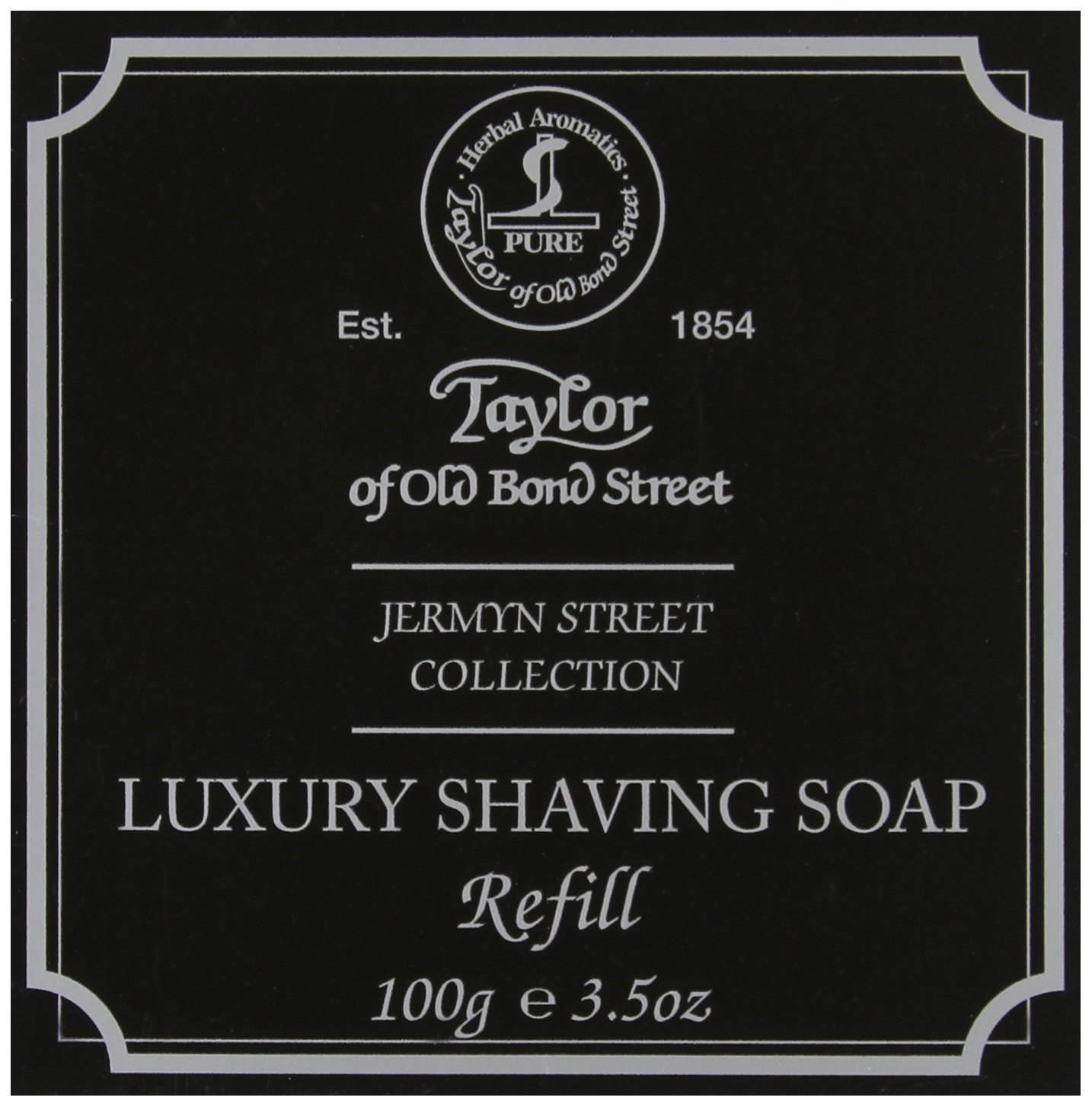 Taylor of Old Bond Street Jermyn Street Hard Shaving Soap Refill, 100 Gram Spicy World of USA Inc 01058