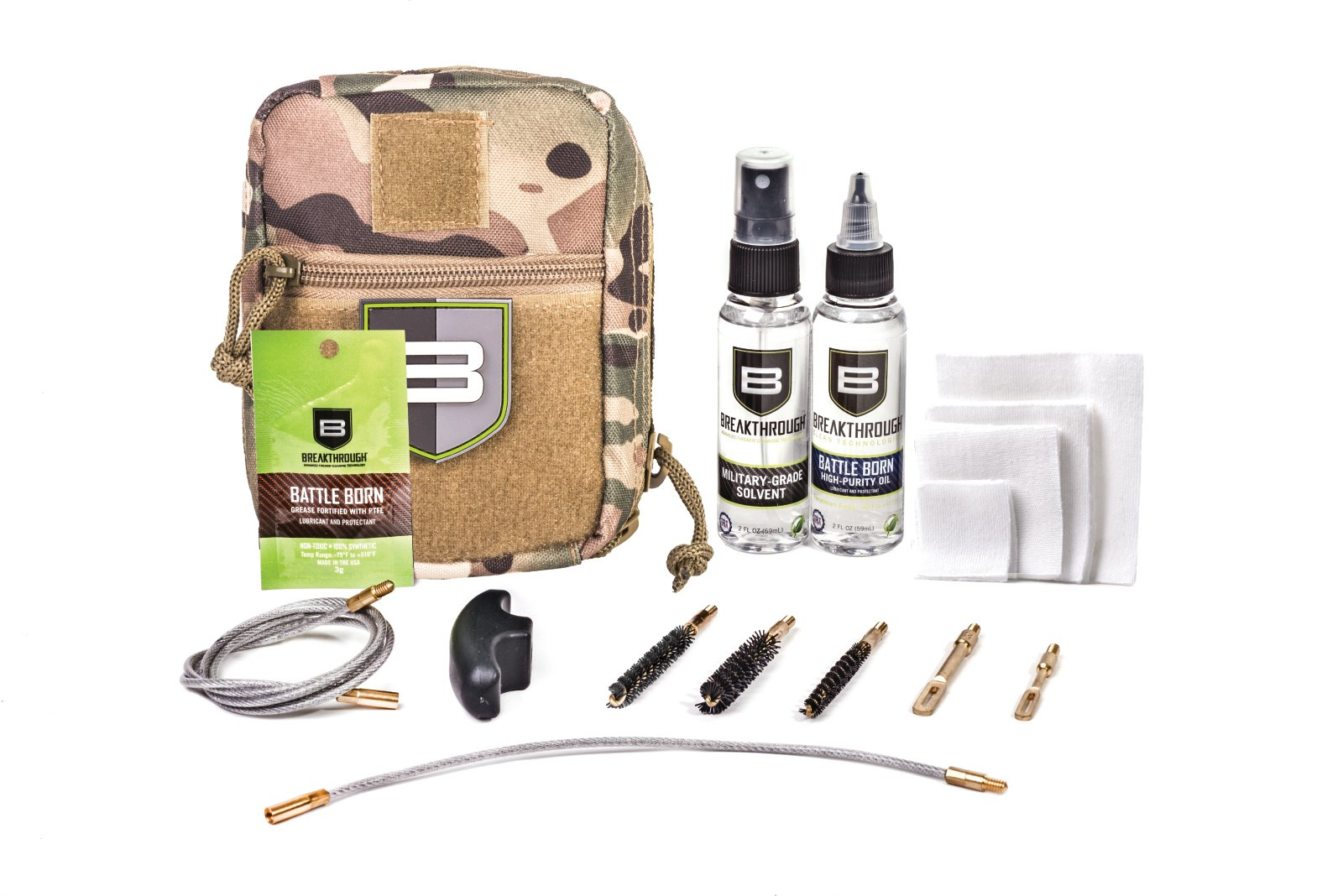 Beakthrough Clean Technologies QWIC-MIL Pull Through Cleaning Kit (Camo)