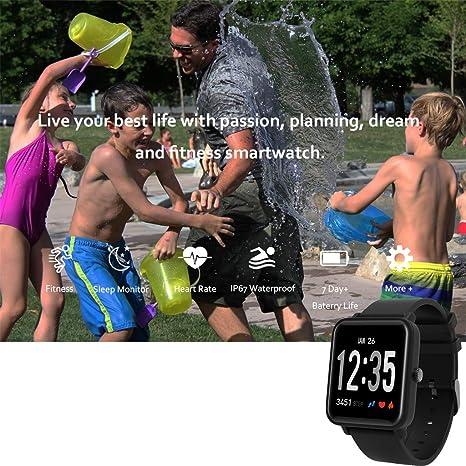 DO10 Reloj inteligente, pulsera deportiva, reloj de pulsera con ...