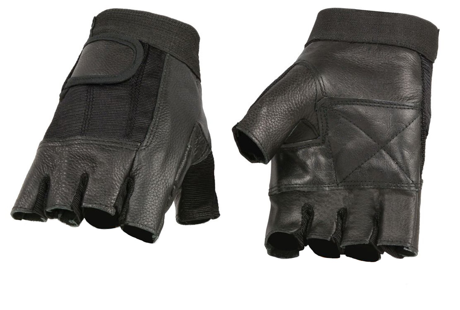 Ted and Jack Fingerless Leather Glove Rhino Grip 2.0 Weightlifitng//Motorcycle