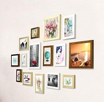 Buy PRINTELLIGENT Memories Set of 15 Individual Photo Frames   Mix ...
