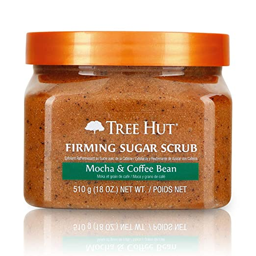 Tree Hut Sugar Scrub Mocha & Coffee Bean, 18oz, Ultra Hydrating and Exfoliating Scrub for Nourishing Essential Body Care Best Coffee Scrubs