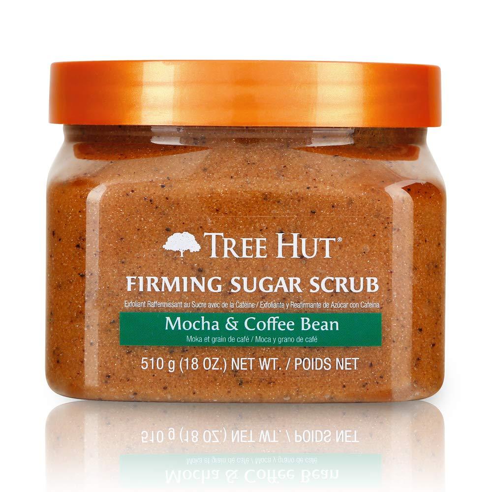 Tree Hut Sugar Scrub Mocha & Coffee Bean, 18oz, Ultra Hydrating and Exfoliating Scrub for Nourishing Essential Body Care, 18 Ounce