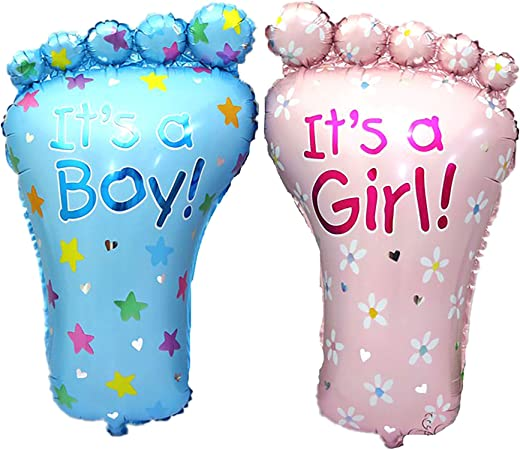 1X Boy Girl Lovely Feet Ballon Baby Shower Foot Foil Balloons Party Decoratio S*