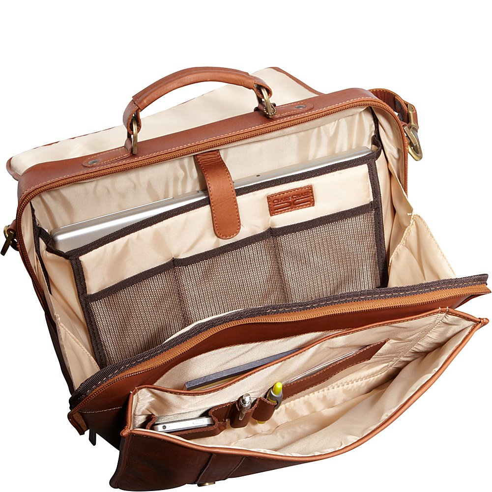Claire Chase Porthole Computer Briefcase One Size 152 Saddle