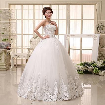 DIDIDD Moderna Hermosa Novia Vestido de Novia de la Novia Elegante Princesa Qi Vestido de Novia
