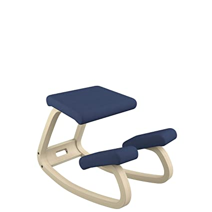 Varier Variable Balans Original Kneeling Chair Designed by Peter Opsvik (Dark Blue Revive Fabric with  sc 1 st  Amazon.com & Amazon.com: Varier Variable Balans Original Kneeling Chair Designed ...