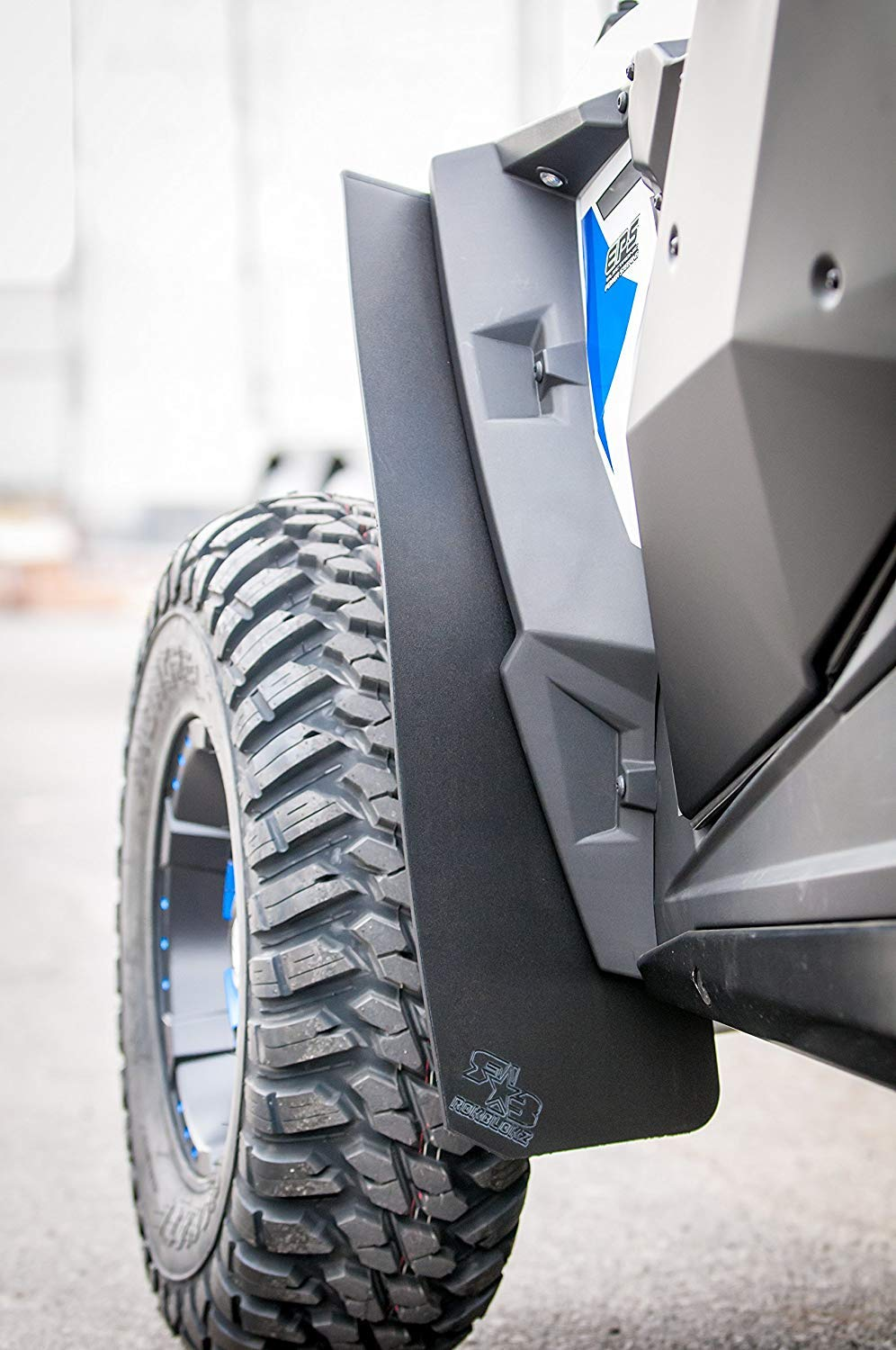 SET of Extra Large MUD EDITION Mud Flaps By RokBlokz Rigid Design Better than OEM Deflectors Best UTV Mud Guards Polaris RZR 1000 Mud Flaps 2014-2015 Fender Extensions Keep Mud Off of Your RZR