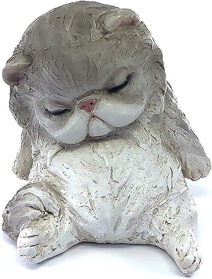 Ceramic cat figurine Pet memorial ornament