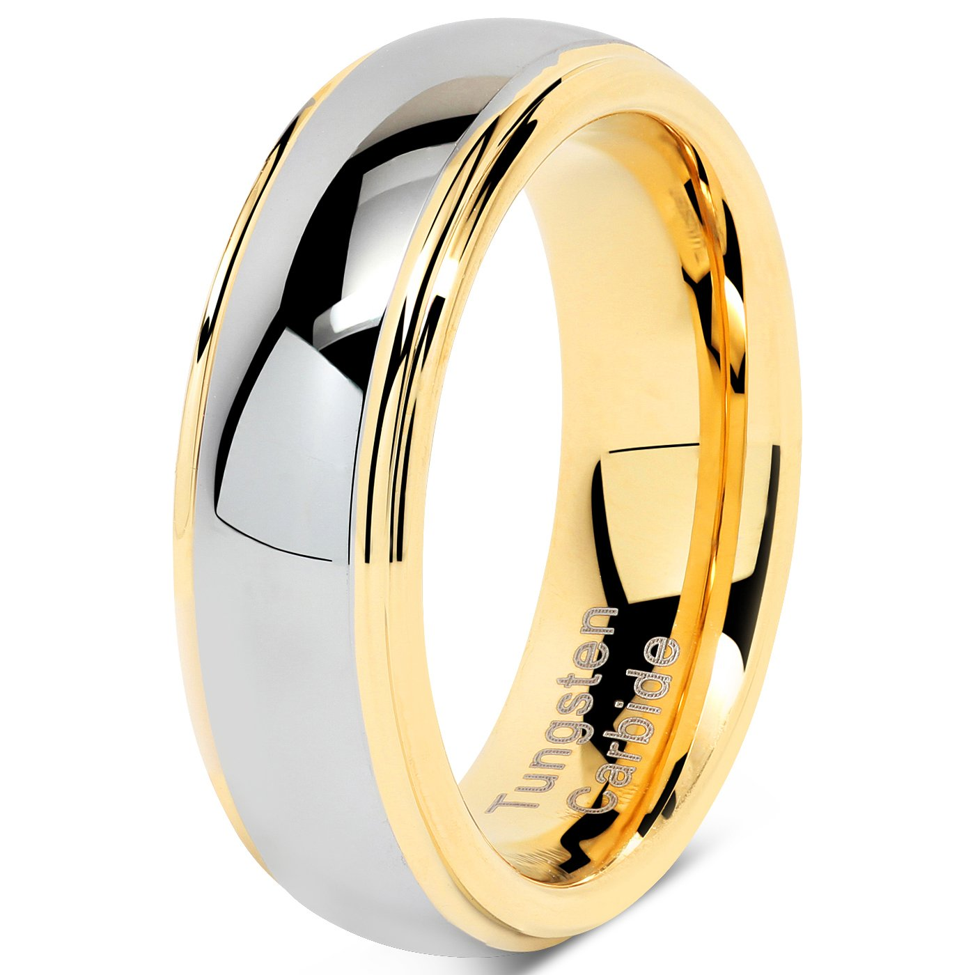 Amazon.com: 100S Jewelry - Anillos de tungsteno de 0.236 in ...