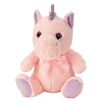 Lifestyle & More Peluches Felpa Unicornio Peluches Juguete de Peluche Rosa Sentado Altura 33 cm -