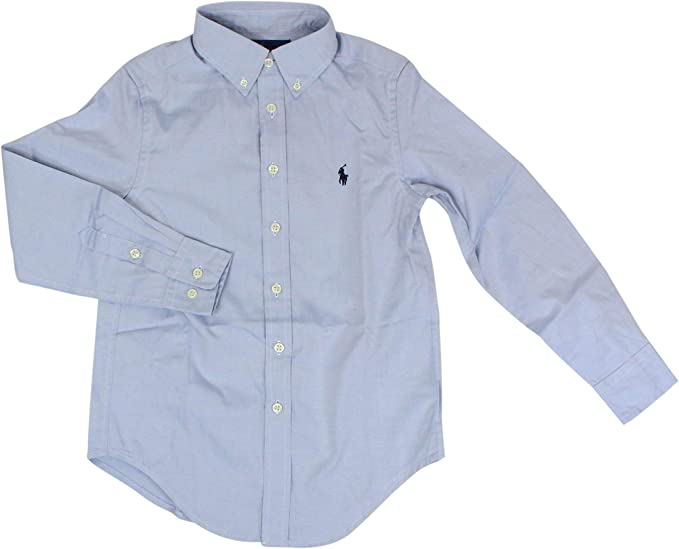 Ralph Lauren Luxury Fashion Niños 323600259004 Azul Claro Camisa | Temporada Outlet: Amazon.es: Ropa y accesorios