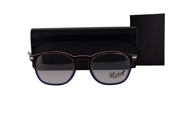 ab92dc1fc6f Amazon.com  Persol PO3007V Eyeglasses 48-19-145 Havana Blue Vintage ...