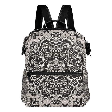 TIZORAX Hippie Mandala - Mochila Escolar, diseño étnico