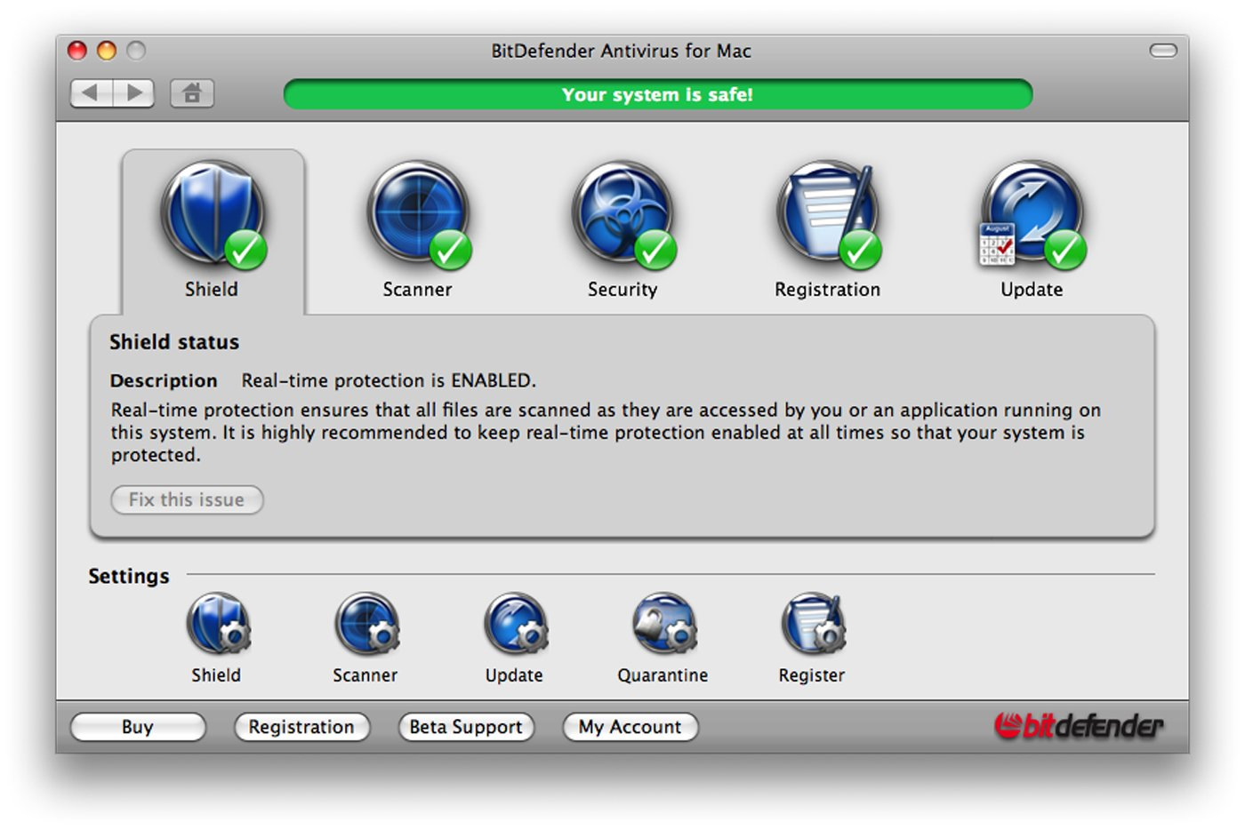 BitDefender Antivirus for Mac, 1 Year, 1 User (Mac)