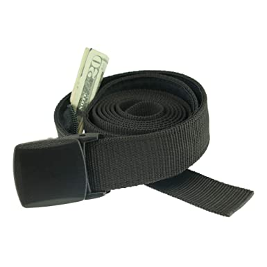 ced82ca4d23 Big   Tall Trekker Money Belt Made in USA by Thomas Bates ... (Black ...