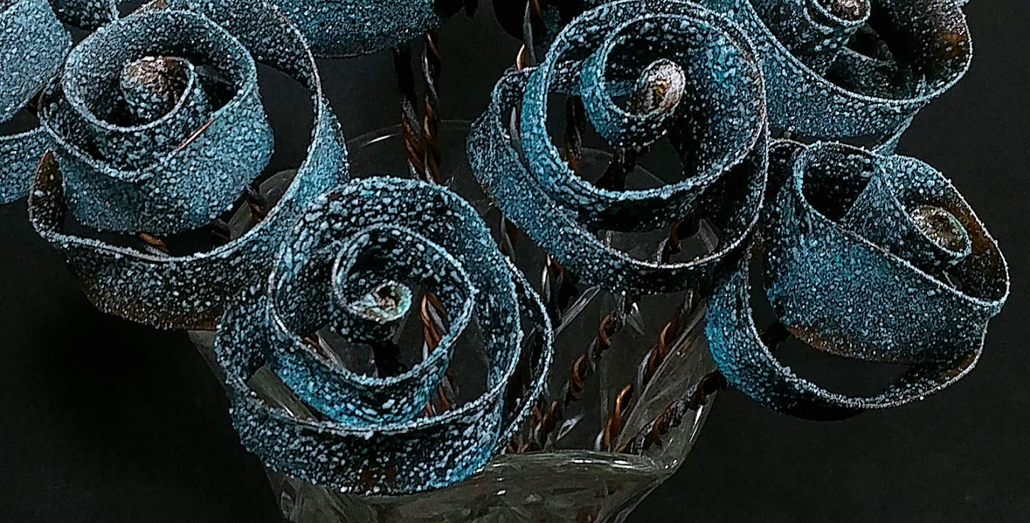 Set of 5 Stardust Forever Copper Roses #1599'' I Love You'' Steampunk - Wedding Prom Graduation 7th Anniversary Regalo de Aniversario Hanukkah Kwanzaa Valentine's Mother's Day Christmas Gift !