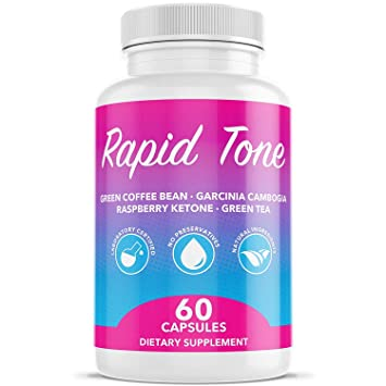 Rapid Tone Weight Loss Pills Supplement Burn Fat Quicker Carb Blocker Appetite Suppressant Fat Burner Serotonin Increase Natural Thermogenic