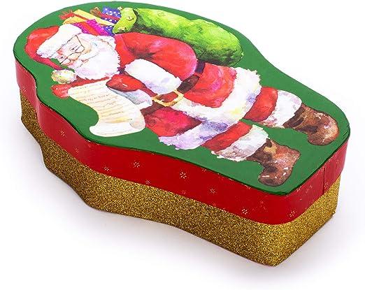 Tri-coastal Design - Caja de Regalo y Almacenamiento, Cajas Forma de Santa con Tapa Ajustada, Caja Decorativa de Navidad, Caja de Regalo y Caja de Almacenamiento: Amazon.es: Hogar