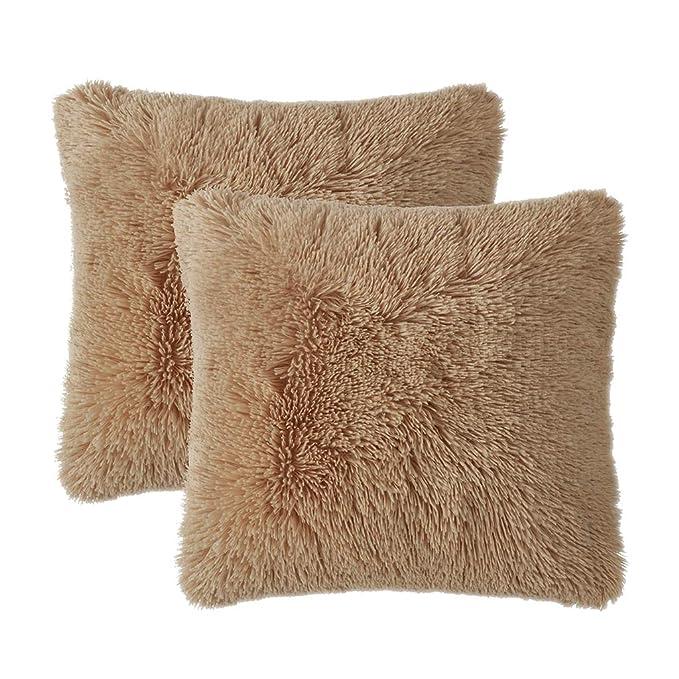 Amazon.com: LIFEREVO - Juego de 2 fundas de almohada de pelo ...
