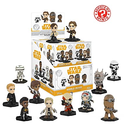 03bbbe70dcc Image Unavailable. Image not available for. Color  Funko Mystery Minis   Disney Star Wars Solo Movie Characters Bobble Head ...