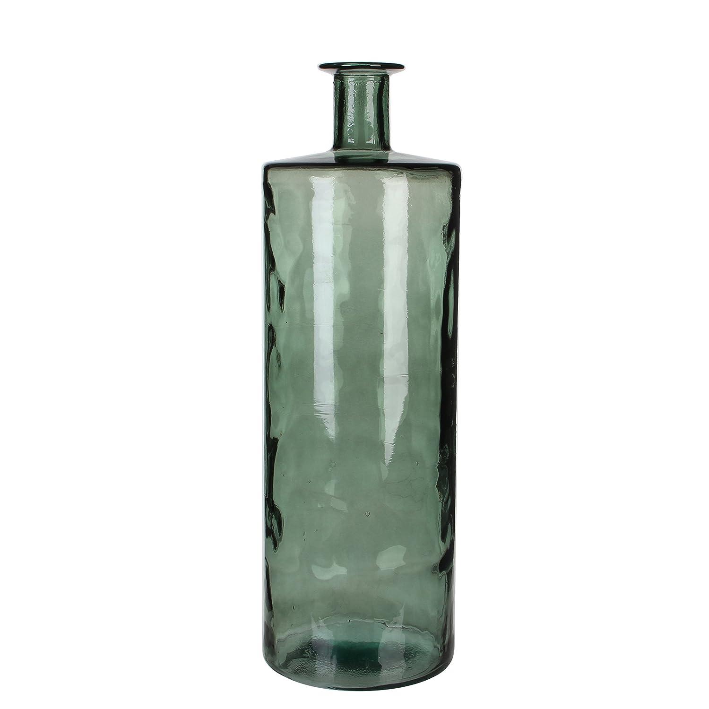 MICA Decorations 147658 Guan Flasche Vase, Glas, Grau, 25 x 25 x 75 cm