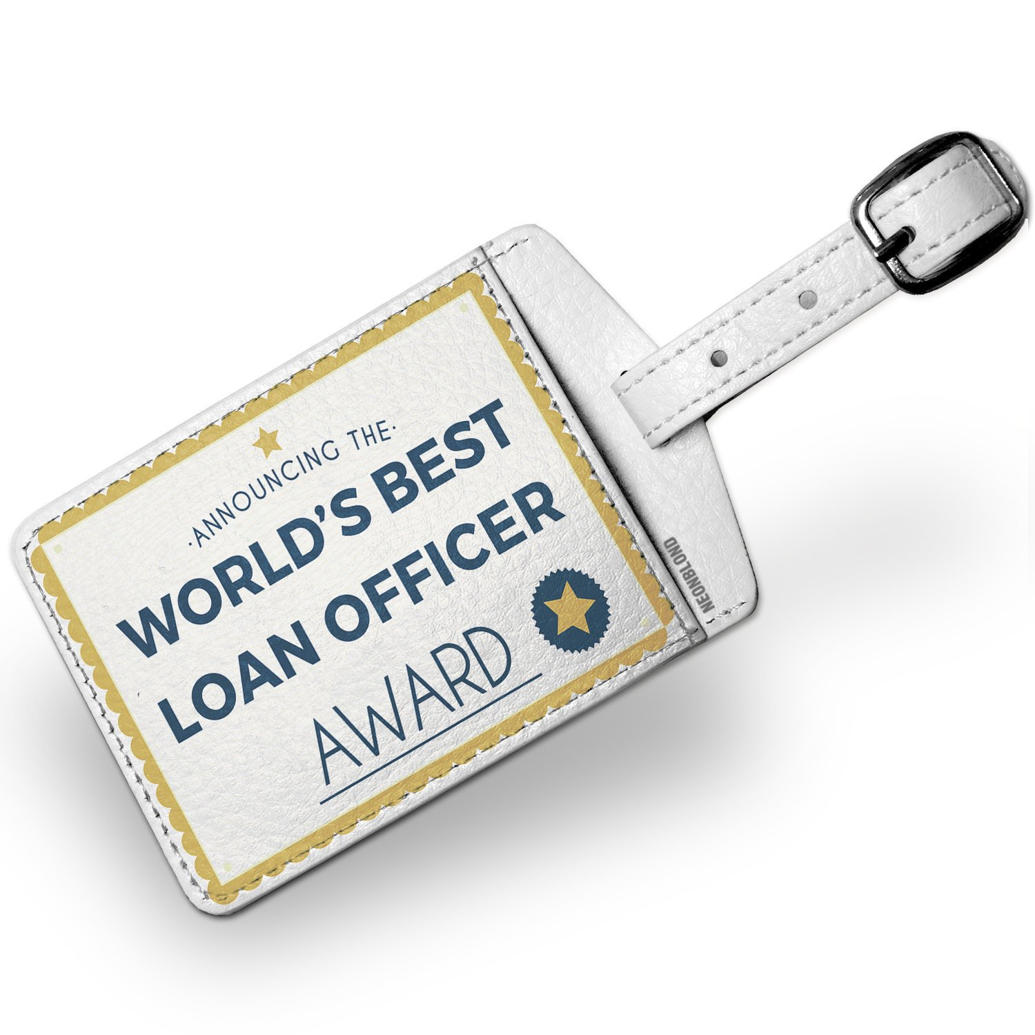 Amazon Luggage Tag Worlds Best Loan Officer Certificate Award