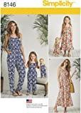 Matching Sets for Misses, Child, and Doll Jumpsuit and Maxi Dress