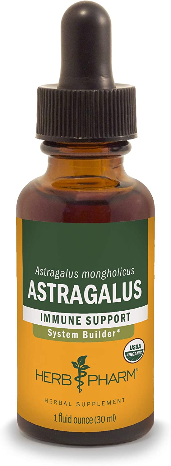 Herb Pharm Certified Organic Astragalus Liquid Extract for Immune System Support - 1 Oz