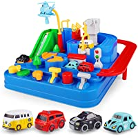 SUPERWEN Race Tracks Safe Smooth Car Adventure City Rescue Preschool Educational Toy for Kids, Vehicle Puzzle Car Track…