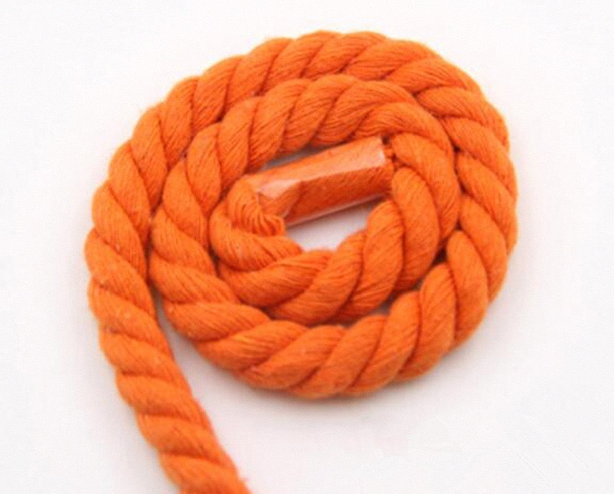 WellieSTR (100Metters/109yards) ORANGE 3 Shares Twisted Cotton Cords 8mm DIY Craft Decoration Rope Cotton Cord for Bag Drawstring Belt by WellieSTR (Image #3)