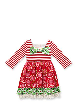 492744b370b8 Amazon.com: Counting Daisies Baby Girls 2-pc Mixed Print Holiday ...
